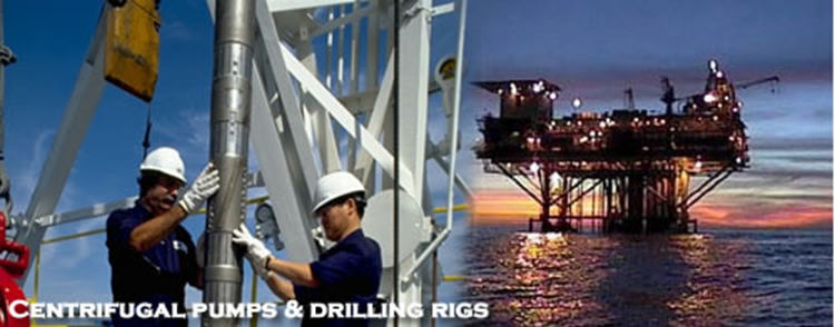 Centrifugal & Electric Pumps, Drilling & Work Over Rigs
